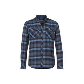 STIHL  Ανδρικό πουκάμισο μπλε καρό Small και με 12 Άτοκες Δόσεις